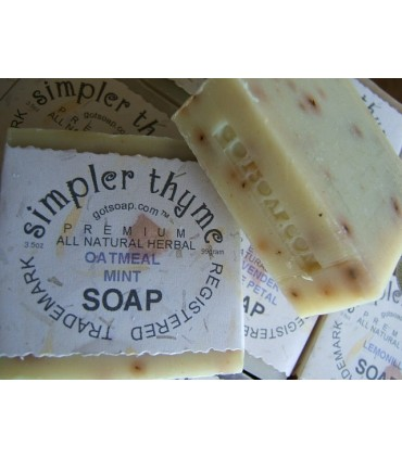 oatmeal mint herbal soap