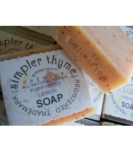 poppyseed lemon herbal soap