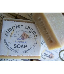 sage & cedar herbal soap