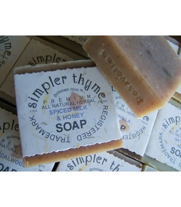 spiced milk & honey herbal soap