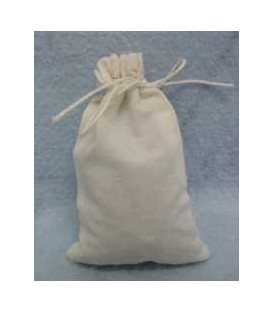 "4  EMPTY 4"" x 6"" cotton muslin drawstring bags"