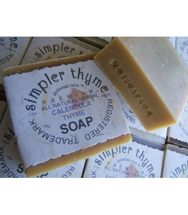 calendula & thyme herbal soap