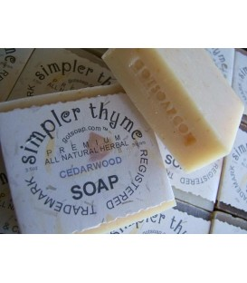 cedarwood herbal soap