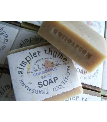 chamomile sage herbal soap