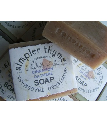cinnamon oatmeal herbal soap