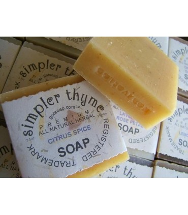 citrus spice herbal soap