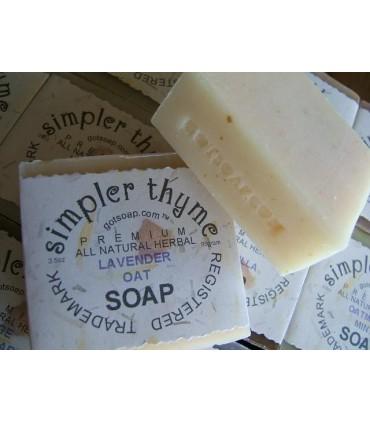lavender oat herbal soap
